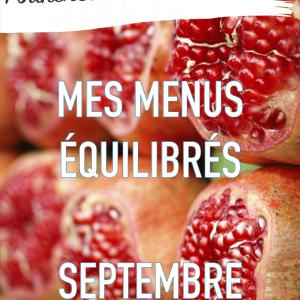 mes menus équilibrés de septembre