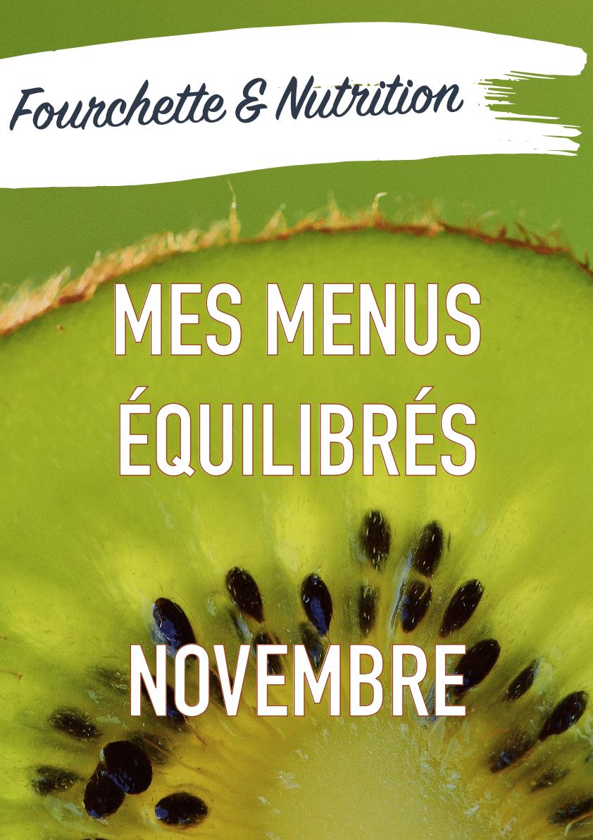 mes menus de novembre
