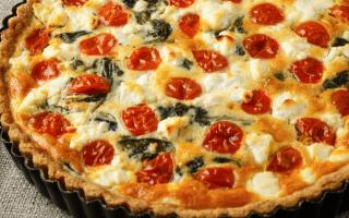 tarte mozza-tomates-épinards