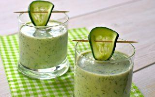 Soupe fraîche de concombre